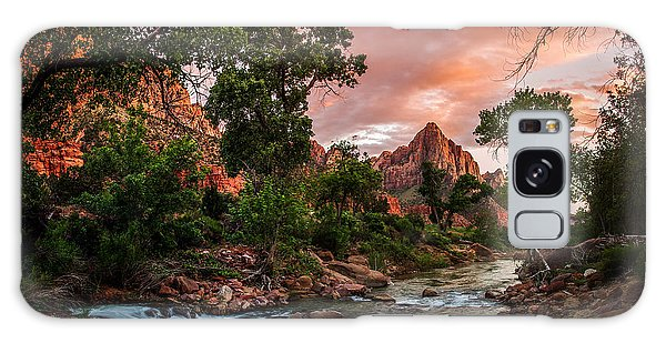 The Watchman Sunset Zion National Park Galaxy Case