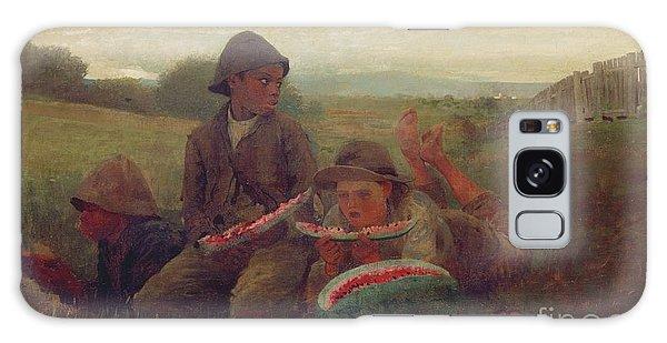 The Watermelon Boys Galaxy Case by Winslow Homer