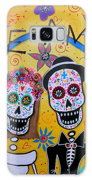 The Wedding Day Of The Dead Galaxy Case by Pristine Cartera Turkus