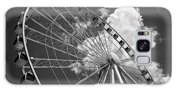 The Wheel And Sky In Black And White Galaxy Case