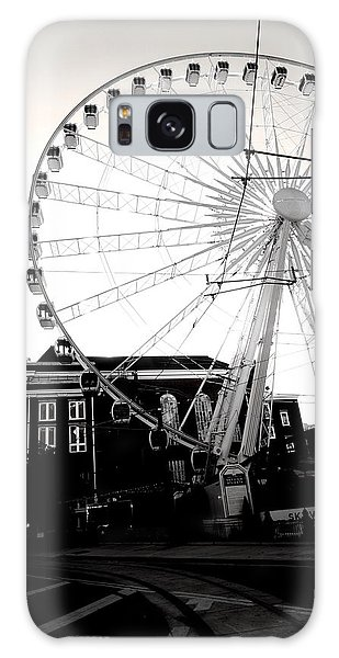 The Wheel Black And White Galaxy Case