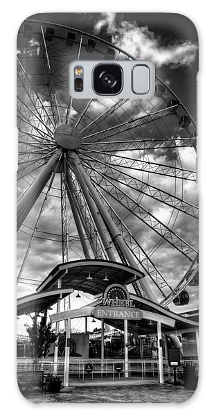 The Wheel Entrance In Black And White Galaxy Case