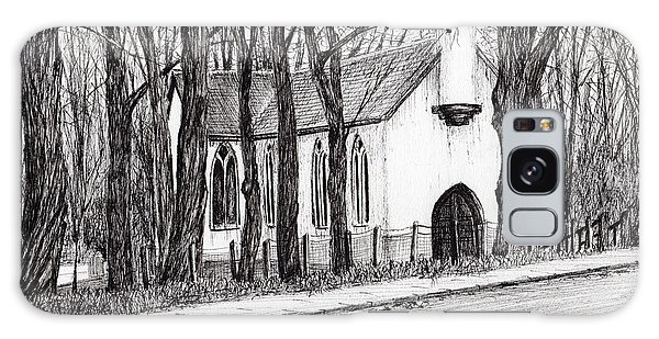 Pen And Ink Drawing Galaxy Case - The White Chapel by Vincent Alexander Booth