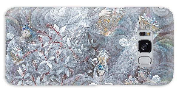 Hibiscus Galaxy Case - The White Hibiscus by Annael Anelia Pavlova