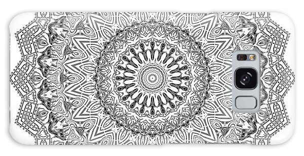 Galaxy Case featuring the digital art The White Mandala No. 3 by Joy McKenzie