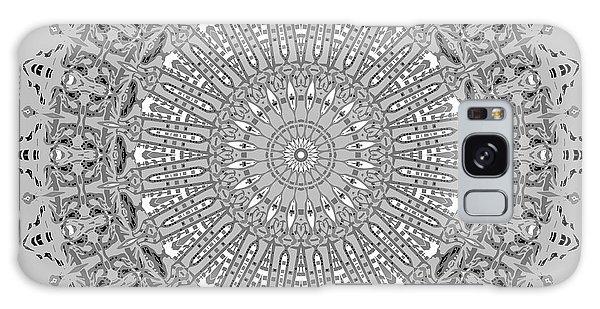 Galaxy Case featuring the digital art The White Mandala No. 4 by Joy McKenzie