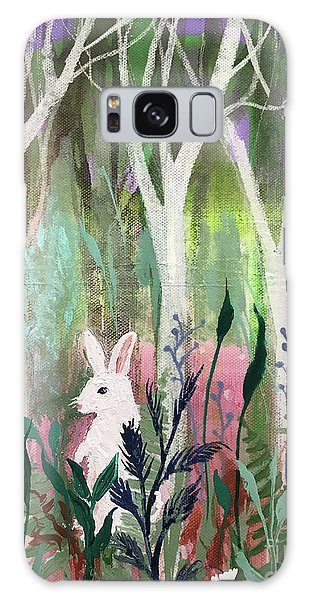 Galaxy Case featuring the painting The White Rabbit by Robin Maria Pedrero