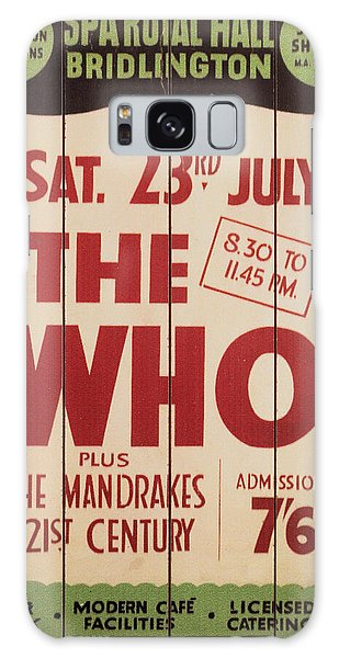 The Who 1966 Tour Poster Galaxy Case