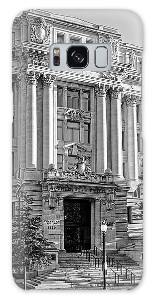 The Wilson Building In Black And White Galaxy Case by Greg Mimbs
