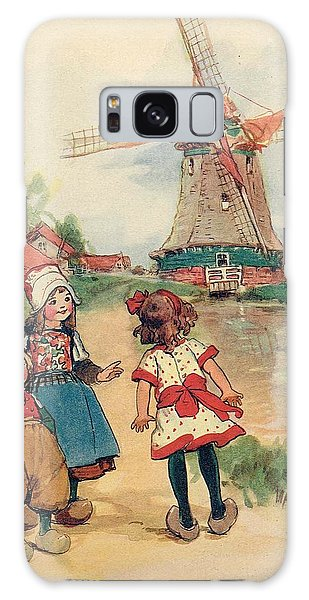 The Windmill And The Little Wooden Shoes Galaxy Case