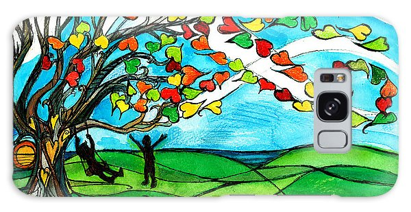 The Windy Tree Galaxy Case by Genevieve Esson