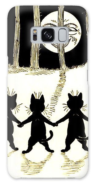 The Wink Six Black Pussy Cats Galaxy Case