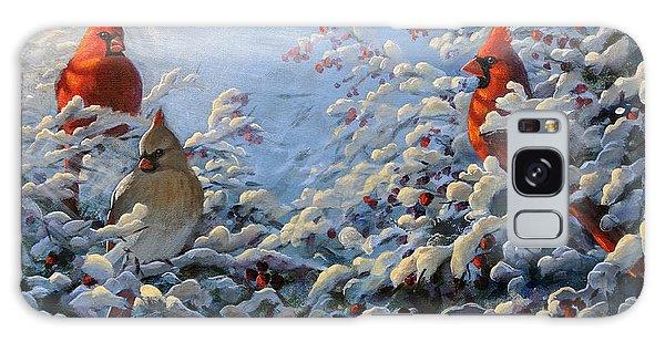 The Winter Garden And Cardinals Galaxy Case
