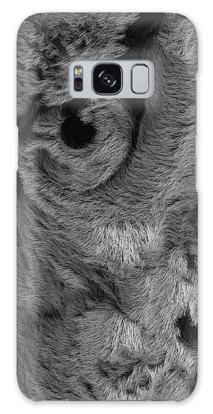 The Old Owl That Watches Blk Galaxy Case