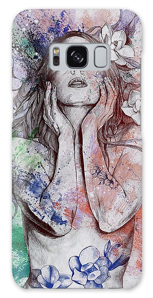 Beautiful Girl Galaxy Case - The Withering Spring - Wine by Marco Paludet