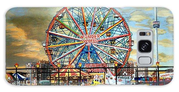 The Wonder Wheel  Galaxy Case by Bonnie Siracusa