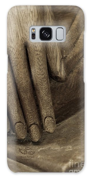 The Wooden Hand Of Peace Galaxy Case