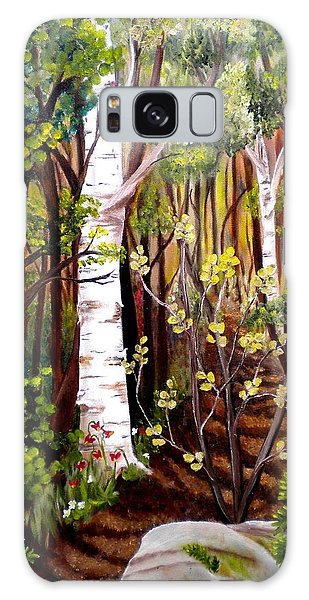 The Woodland Trail Galaxy Case by Renate Nadi Wesley