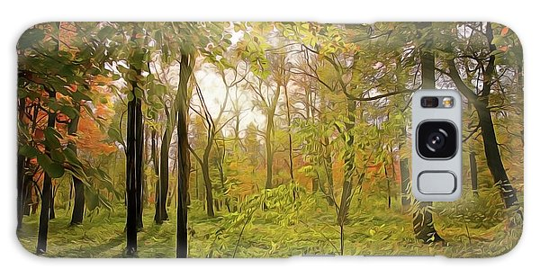 Galaxy Case featuring the painting The Woods by Harry Warrick