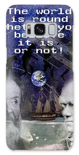 The World Is Round Galaxy Case by Steve Karol