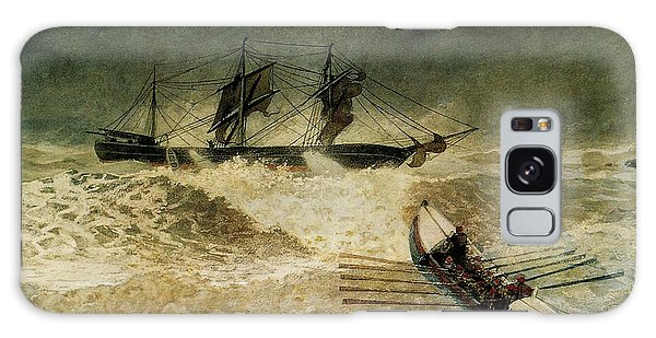Bay Galaxy Case - The Wreck Of The Iron Cloud, 1881 by Winslow Homer