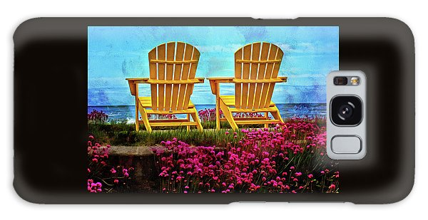 The Yellow Chairs By The Sea Galaxy Case