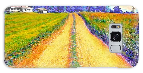 The Yellow Dirt Road Galaxy Case