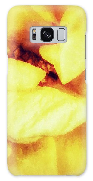 The Yellow Heart Galaxy Case
