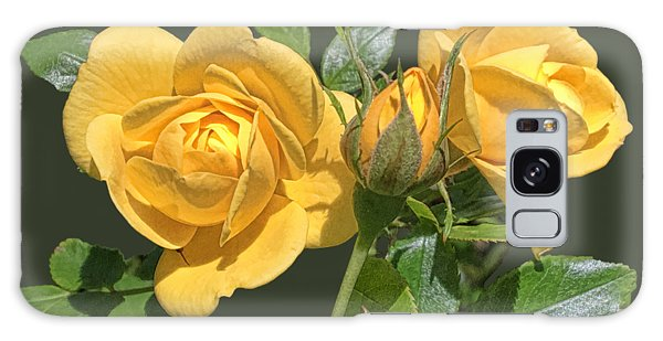 The Yellow Rose Family Galaxy Case by Daniel Hebard