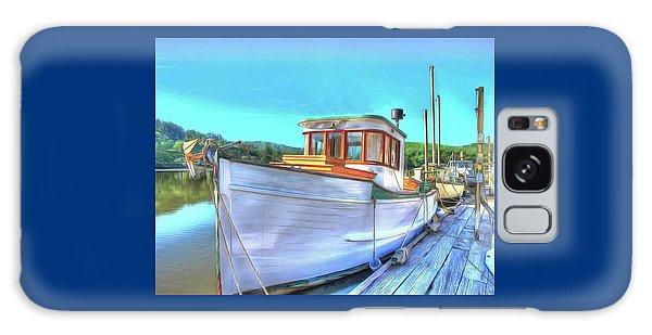 Thee Old Dragger Boat Galaxy Case by Thom Zehrfeld