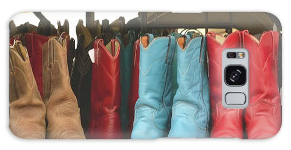 Them Boots, Turquoise And Red Galaxy Case by Nadalyn Larsen