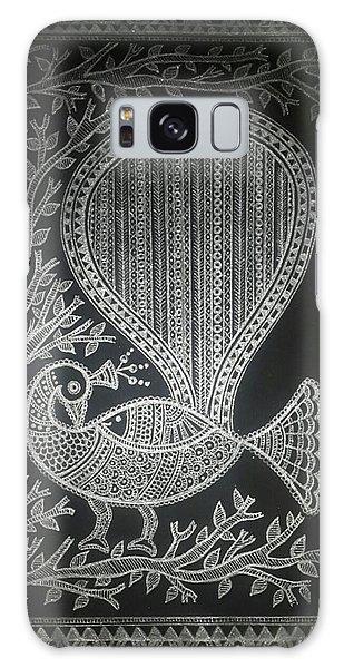 Madhubani Galaxy Case - The Madhubani Peacock by Pooja Jain