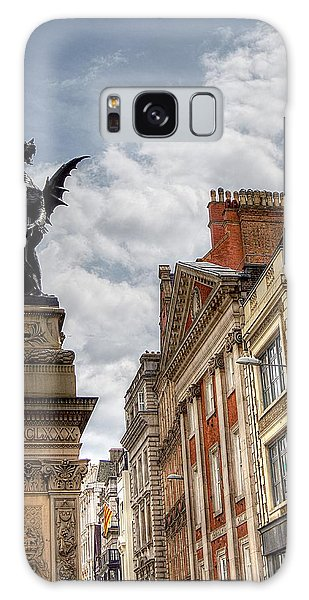 There Be Dragons In London Galaxy Case by Karen McKenzie McAdoo
