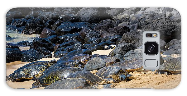 Galaxy Case featuring the photograph There Has Got To Be More Room On This Beach  by Jim Thompson