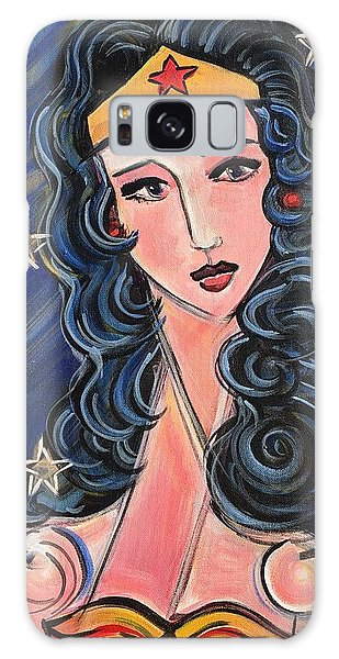 Galaxy Case featuring the painting There's A Wonder Woman In Us All by Laurie Maves ART