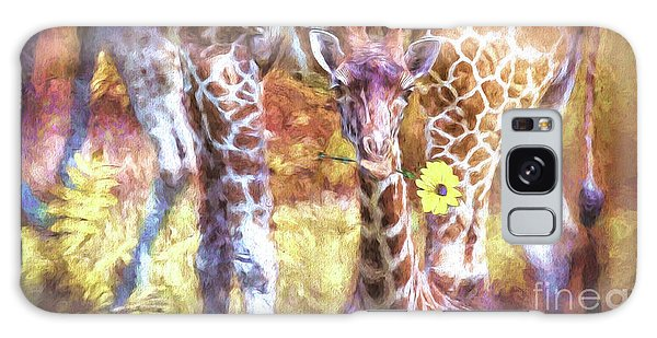 The Whimsical Giraffe  Galaxy Case