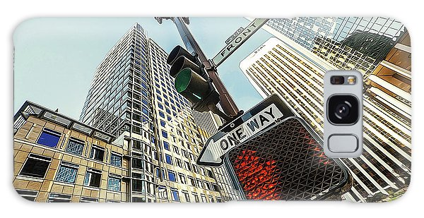 Traffic Signals Galaxy Case - Things Are Looking Up In The City by Elaine Plesser