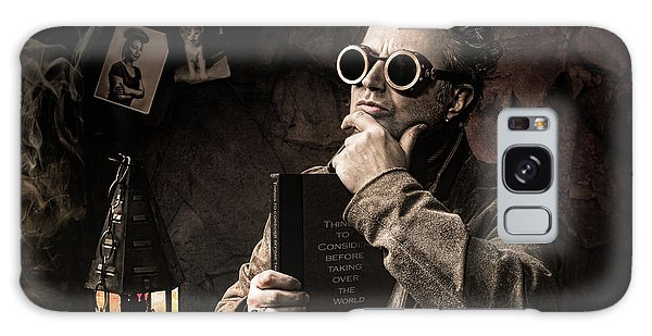 Galaxy Case featuring the photograph Things To Consider - Steampunk - World Domination by Gary Heller