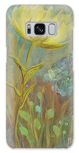 Galaxy Case featuring the painting Think On Good Things by Robin Maria Pedrero