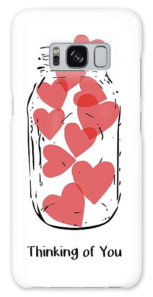 Heart Galaxy Case - Thinking Of You Jar Of Hearts- Art By Linda Woods by Linda Woods