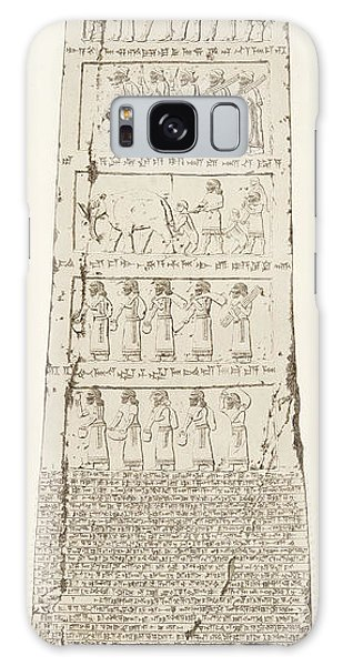 Cart Galaxy Case - Third Side Of Obelisk, Illustration From Monuments Of Nineveh by Austen Henry Layard