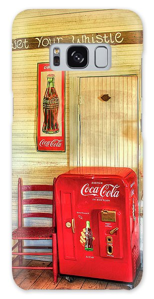 Thirst-quencher Old Coke Machine Galaxy Case by Reid Callaway