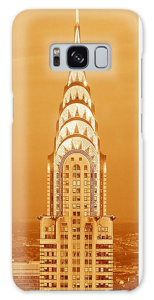 Chrysler Building Galaxy Case - Chrysler Building At Sunset by Panoramic Images