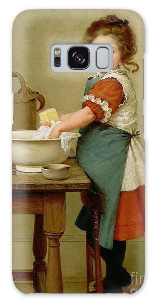 Girl Galaxy Case - This Is The Way We Wash Our Clothes  by George Dunlop Leslie