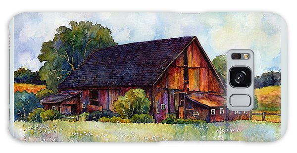 Old Road Galaxy Case - This Old Barn by Hailey E Herrera