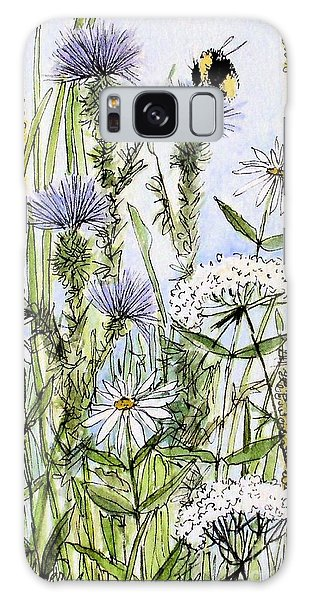 Thistles Daisies And Wildflowers Galaxy Case
