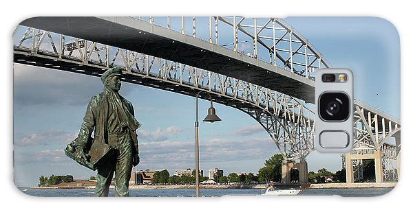 Thomas Edison And Blue Water Bridge 1 Galaxy Case