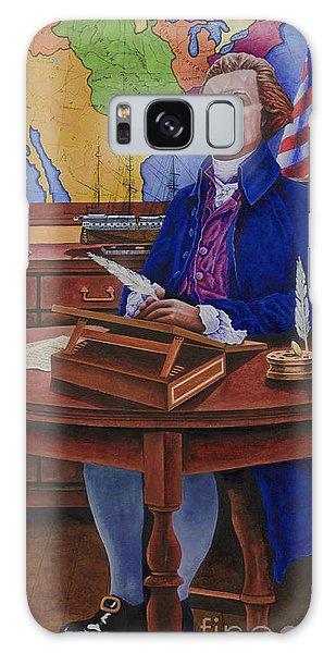 Thomas Jefferson Galaxy Case by Michael Frank