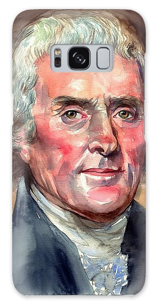 Thomas Jefferson Galaxy Case - Thomas Jefferson Portrait by Suzann's Art