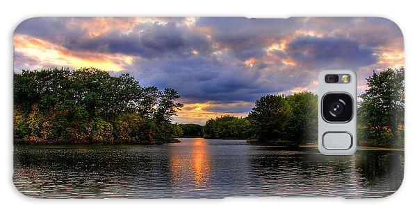 Thomas Lake Park In Eagan On A Glorious Summer Evening Galaxy Case